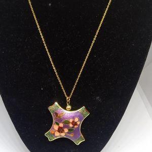 VTG cloisonne necklace
